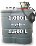 STATION DE DISTRIBUTION DE GASOIL COMPLETE EN PEHD de 1.000 à 2.000 L